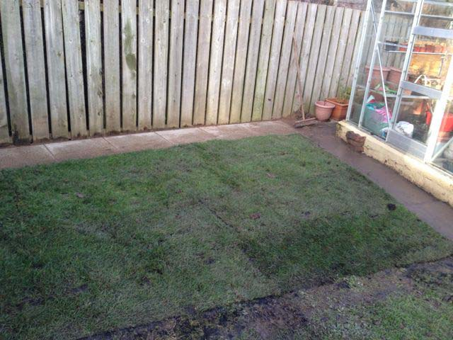 Turf and slab after @ Coulson Drive